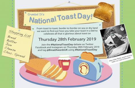 National Toast Day - 28th February 2019 - #NationalToastDay
