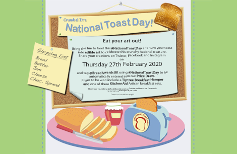 National Toast Day - 27th February 2020 - #NationalToastDay