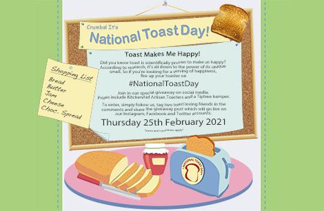 National Toast Day - 25th February 2021 - #NationalToastDay