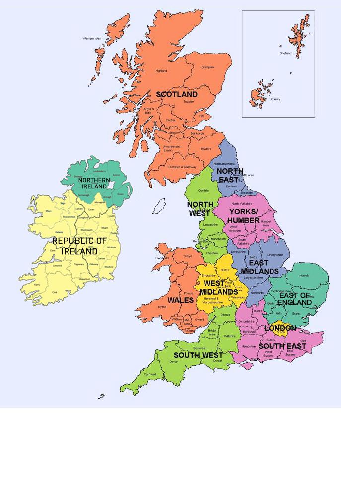 UK Regions Map